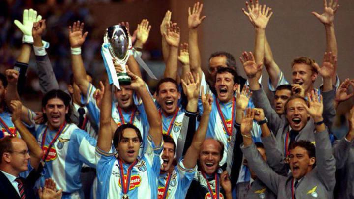 Lazio campeón de la Recopa 1999