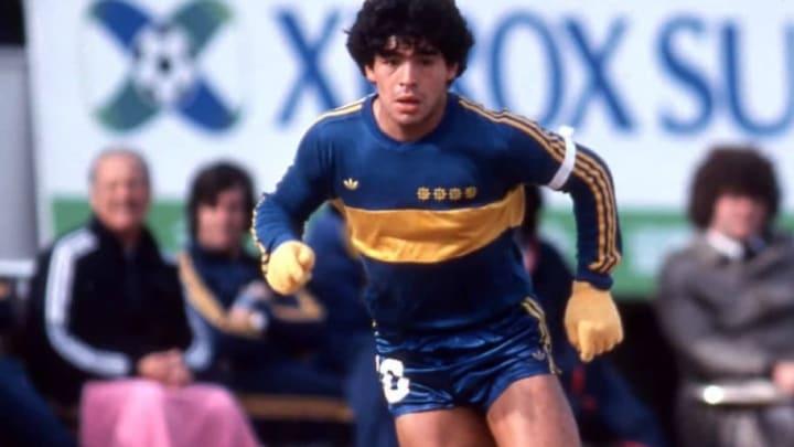 Maradona à Boca Juniors, une belle année en 1980.