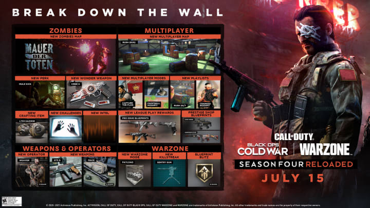 Warzone Season 4 Reloaded Roadmap Revealed
