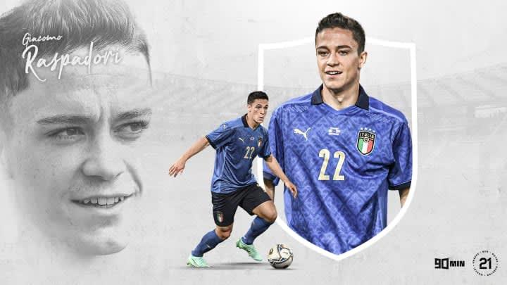 Giacomo Raspadori vient tout juste de faire ses débuts avec l'Italie.