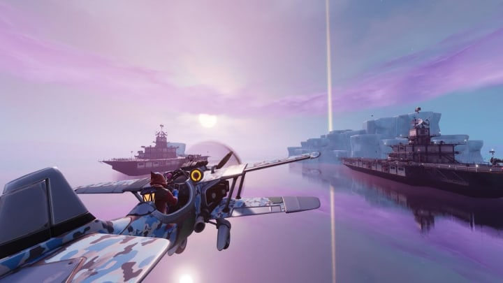 Take the sky in Senix's newest Island, Freaky Flights, that's now available to play through the Creative mode in Fortnite. | Photo by Epic Games