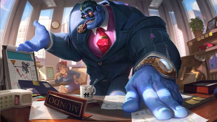 Dr. Mundo's Corporate skin after the VGU
