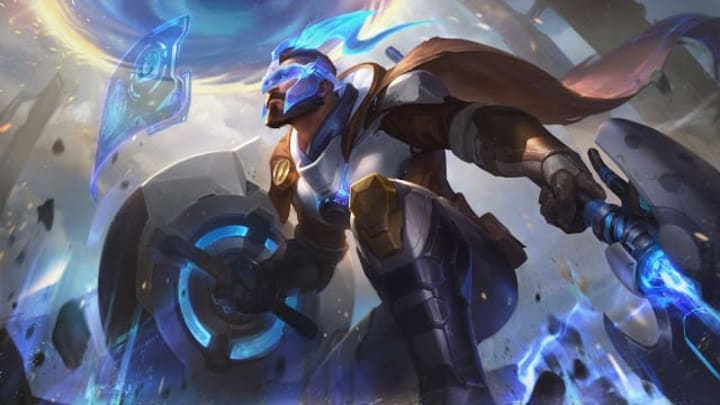 Pantheon joined the Pulsefire skin line in League of Legends Patch 10.10.