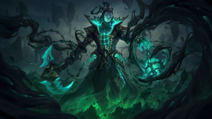 Unbound Thresh is one of five skins scheduled to arrive in League of Legends Patch 11.15.