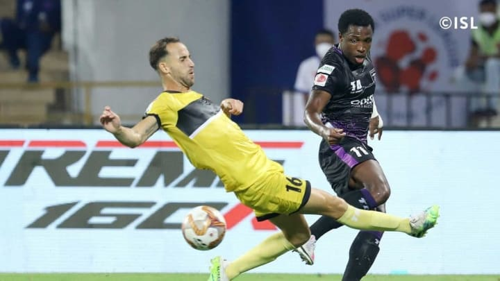 Odei Onaindia was the best player for Hyderabad against Odisha FC