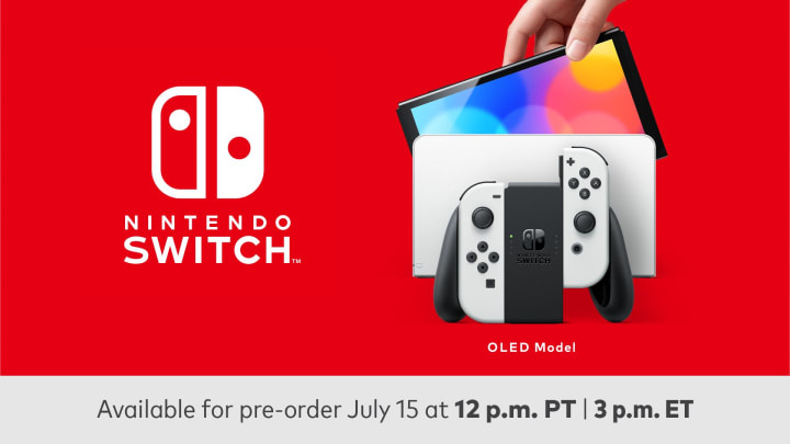 The new Nintendo Switch OLED console pre-orders will go live today, July 15, in the late afternoon.