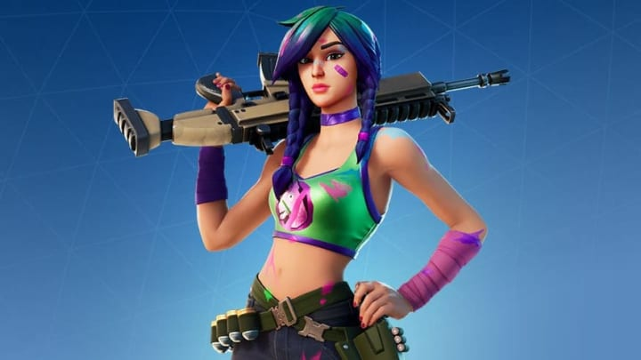 The Splatterella skin in Fortnite saw a re-release in Dec. 2020—much to the terror of llamas everywhere.