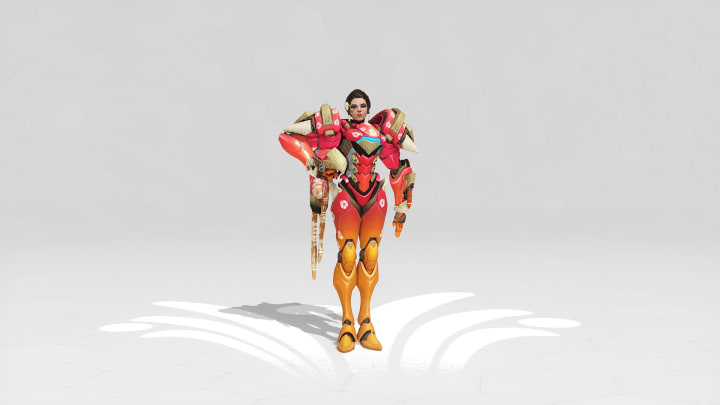 Sunset Pharah will be available soon as a Week 2 challenge reward during the annual Overwatch Summer Games event this year.