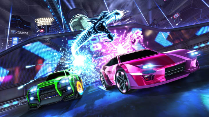 Rocket League Dueling Dragons goal explosion