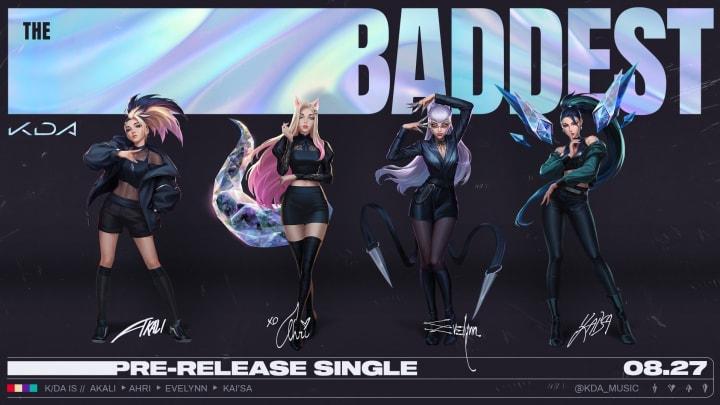 K/DA: Riot Games' Virtual K-pop girl group