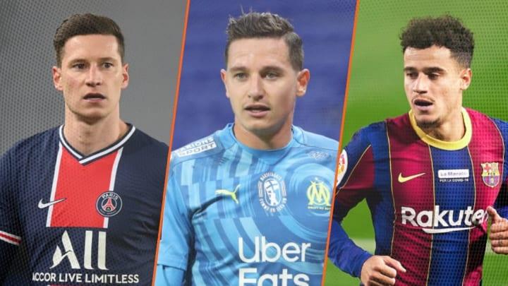 Julian Draxler, Florian Thauvin et Coutinho risquent d'animer le mercato d'été.