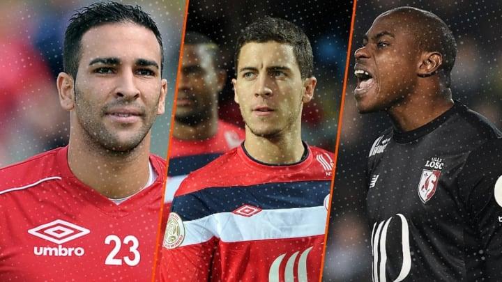 Adil Rami, Eden Hazard et Vincent Enyeama.