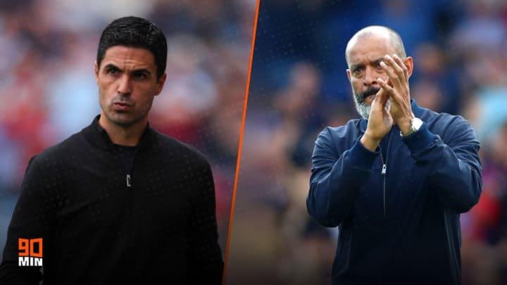 Arsenal boss Mikel Arteta & Tottenham head coach Nuno Espirito Santo