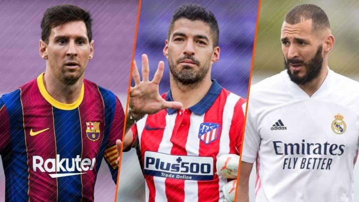 Lione Messi, Luis Suarez et Karim Benzema font partie du XI de la saison 2020/2021 de la Liga.