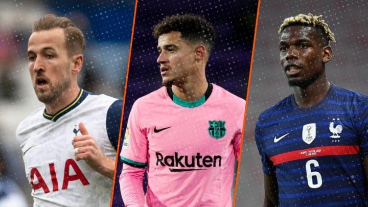 Harry Kane, Coutinho et Pogba.