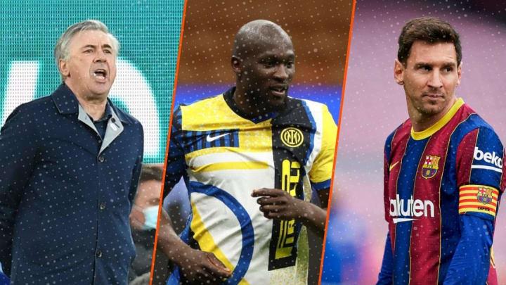 Ça chauffe sur le marché des transferts. Ancelotti de retour au Real, Lukaku en Premier League ? Messi partit pour rester !
