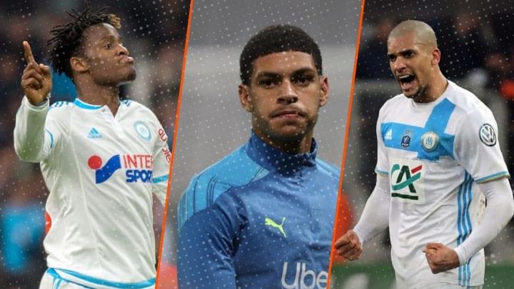 """Les joueurs labellisés """"pépites"""" à l'OM avec Michy Batshuayi, Luis Henrique et Doria."""