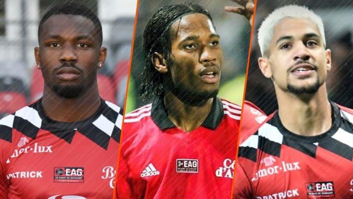 Marcus Thuram, Didier Drogba et Ludovic Blas.