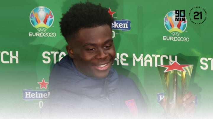 Saka was rightly handed the player of the match award