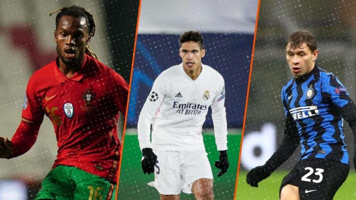 Renato Sanches, Raphael Varane et Nico Barella pourraient quitter leur club cet hiver.
