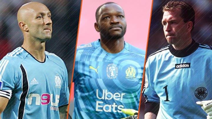 Fabien Barthez, Steve Mandanda et Andreas Köpke ont marqué l'Histoire de l'OM.