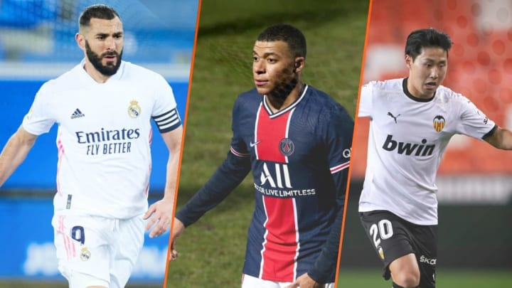 Benzema, Mbappé et Kang in Lee.