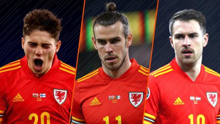 Daniel James, Gareth Bale et Aaron Ramsey, les étendards du pays de Galles