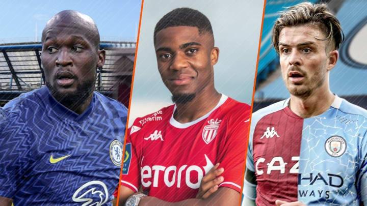 Romelu Lukaku, Myron Boadu et Jack Grealish.