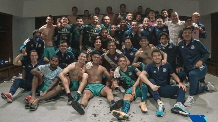 La Franja dio la sorpresa al eliminar a Rayados. Foto vía @ClubPueblaMX