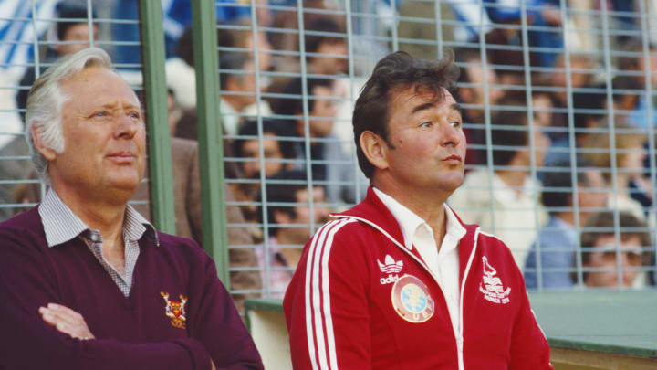 Brian Clough - manager of Nottingham Forest