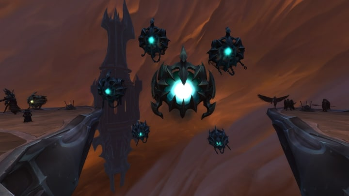 Eye of the Jailer raid boss in Sanctum of Domination, unrelated to this quest - you don't need to hop in Sanctum of Domination for this quest