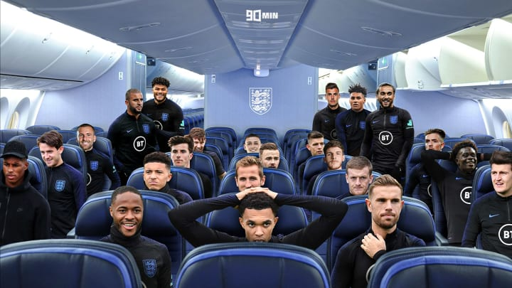 How England's plane is currently looking