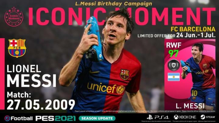 Messi recebeu um poderoso overall