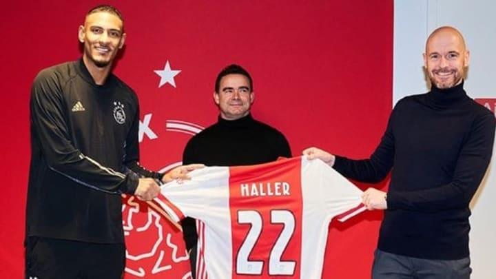 Sébastien Haller avec son nouveau maillot.