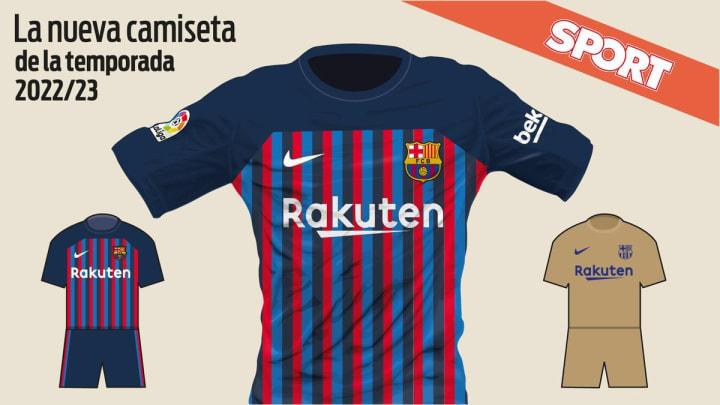 Les maillot saison 2022-2023 du FC Barcelone.