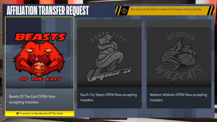 Here is how to change Affiliations in NBA 2K22 Next Gen MyCareer.