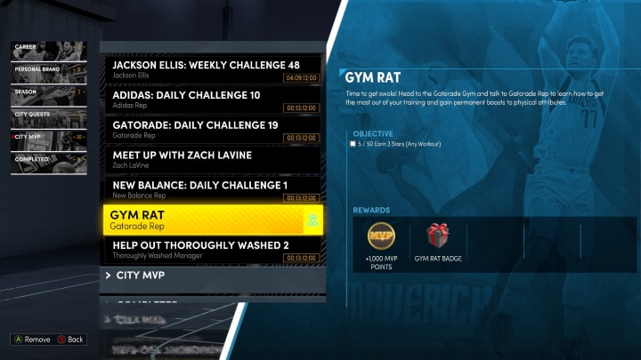 Here's how to get the Gym Rat Badge in NBA 2K22 MyCareer.