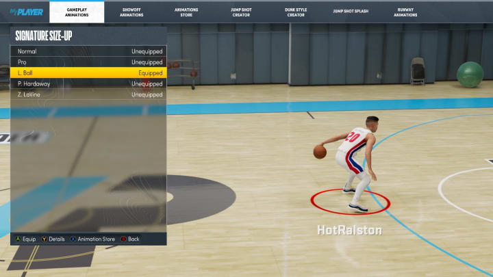 """Here's how to do a Signature Standing Size-Up in NBA 2K22, as confirmed by 2K Gameplay Director Mike """"Beluba"""" Wang."""