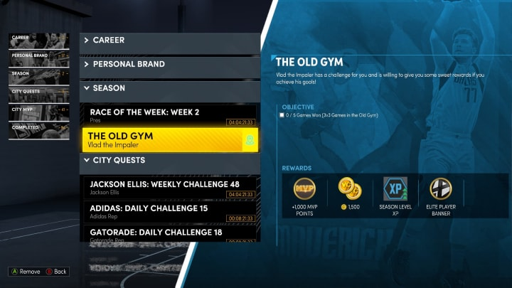 The Old Gym quest