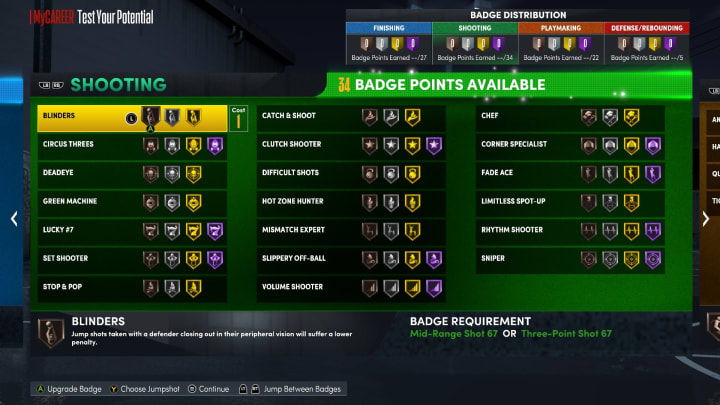 Here are the best Shooting Badges to use in NBA 2K22 MyCareer on Current Gen and Next Gen.