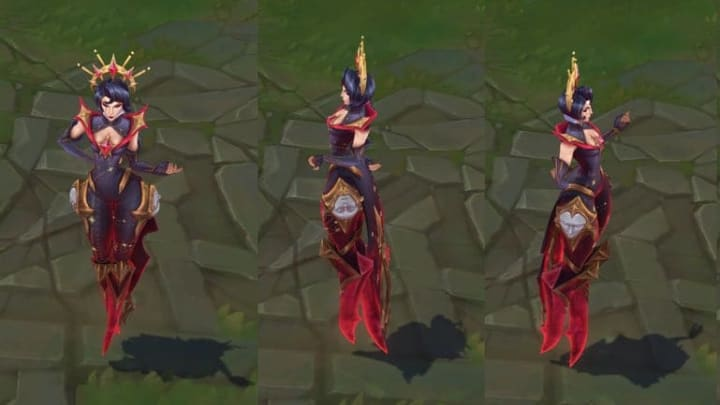 Arcana Camille's in-game turnarounds.
