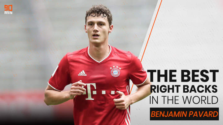 Benjamin Pavard is 4th on 90min's list of the best right-backs in the world.