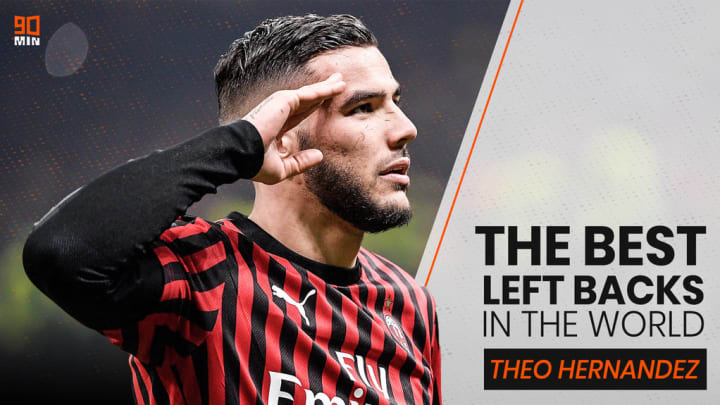 Theo Hernández is 5th on 's list of the best left-backs in the world.