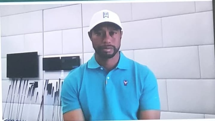 Tiger Woods golf studio.