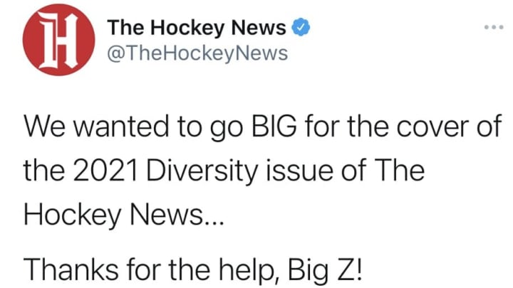 Since deleted tweet from The Hockey News.
