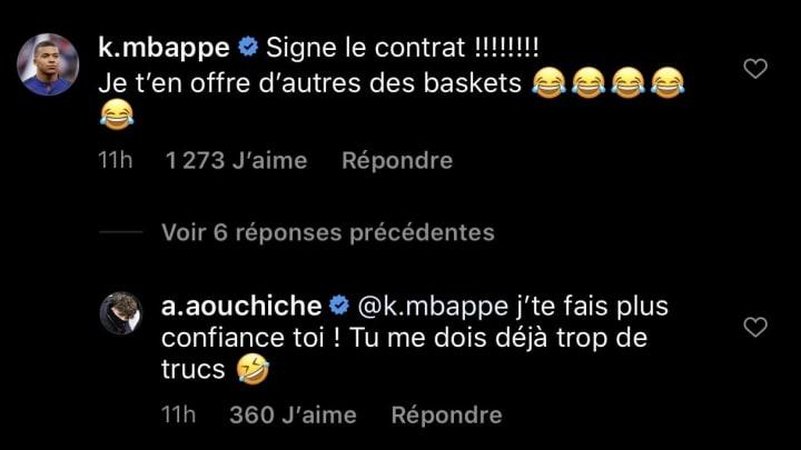 Mbappé joue les agents sur Instagram