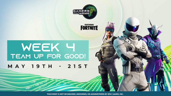 Fortnite Gamers Without Borders tournament to raise money for pandemic relief.