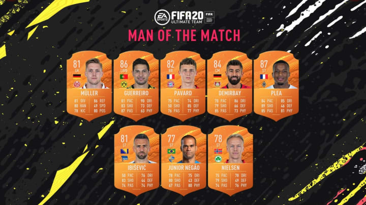 Check out the new Bundesliga MOTM cards that are available in packs for the next week.