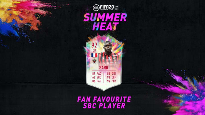Malang Sarr FIFA 20 Summer Heat Fan Favorite SBC is now live to be completed for a limited time.