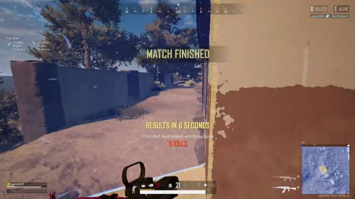 This PUBG player used a Sticky Bomb and a swinging door to find victory.